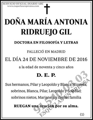 María Antonia Ridruejo Gil